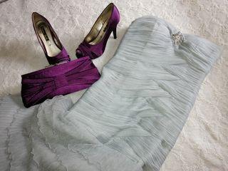 Vestido, zapatos y bolso (fiesta)