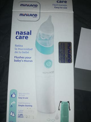 aspirador nasal eléctrico miniland baby