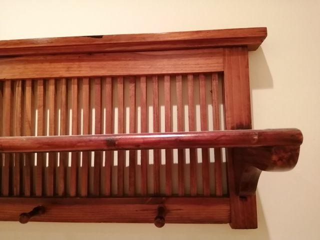 Perchero de pared madera