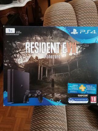 PS4 Slim 1Tb edición resident evil biohazard
