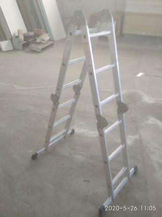 escalera aluminio pegable