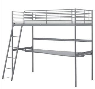 Estructura cama alta +escritorio +flexo