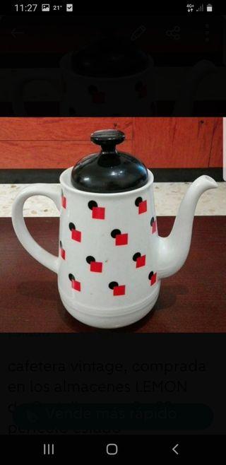 cafetera porcelana vintage
