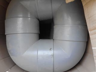Codos y semicodos PVC 160