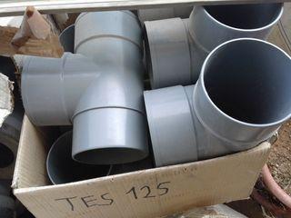 TE de PVC de 125