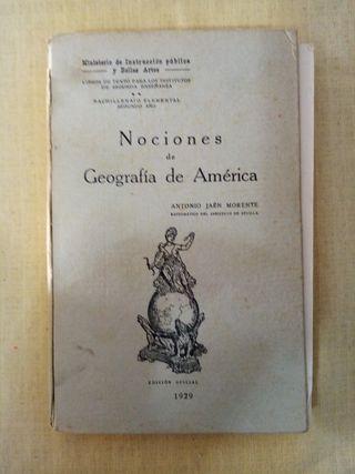 1929 NOCIONES DE GEOGRAFÍA DE AMÉRICA