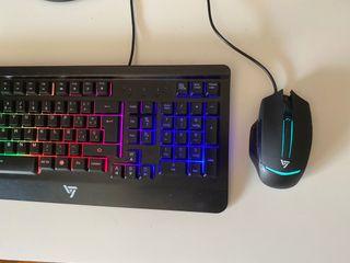 Pack teclado y ratón Gaming PC PS4 iluminados