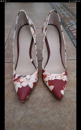 Zapatos de tacón estampados Zara N37