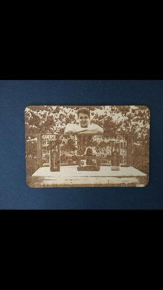 Fotos grabadas a láser sobre madera