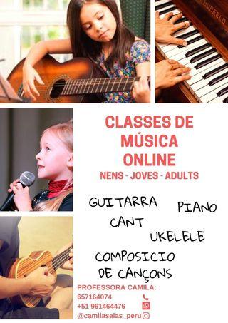 CLASES DE MÚSICA ONLINE