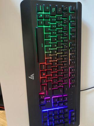 TECLADO ILUMINADO para PC/Ps4 (teclado completo)