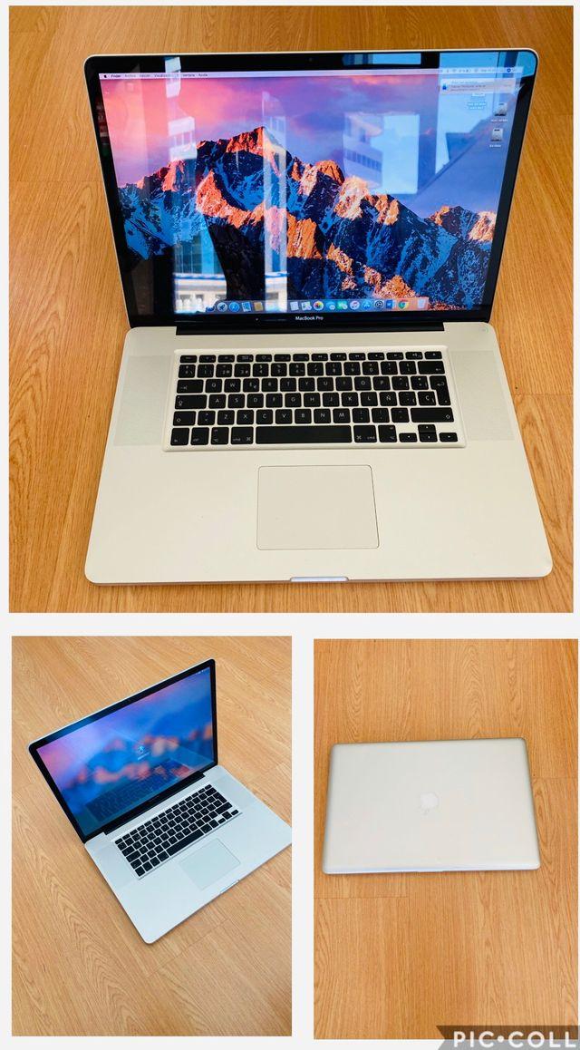 """Macbook pro 17"""" ssd 240gb + 1 terabyte"""