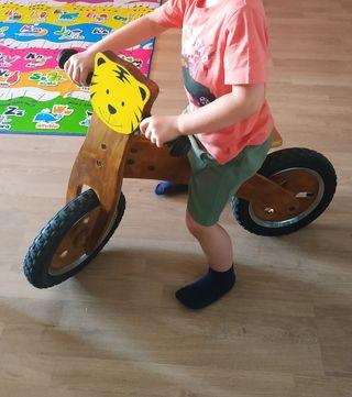 bici de madera noños