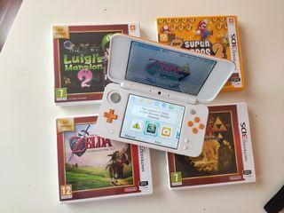 Pack Consola Portatil New Nintendo 2DS xl + juegos