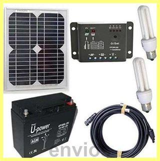 Kit solar de iluminacion 10w12v interior