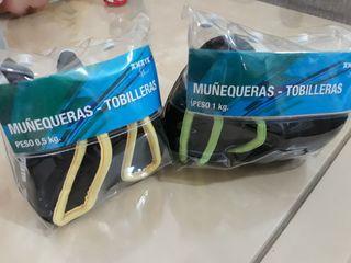 TOBILLERAS MUÑEQUERAS PESO FITNESS