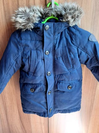 Abrigo largo niño, invierno, plumífero, talla 3-4