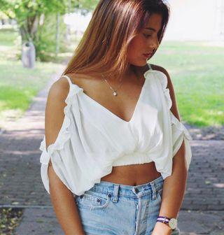 Top blanco verano