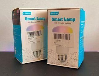 Bombillas E27 WIFI inteligentes RGB