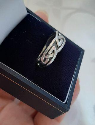 Anillo hombre celta plata sellado KH 01 925 Q
