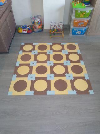 alfombra o manta juego puzzle goma eva cuadrada