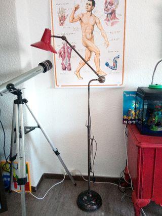 Antigua lampara industrial años 50' tipo Jielde