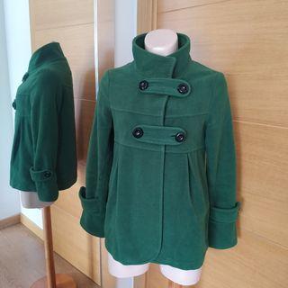 Abrigo verde New Saks Woman talla S/M