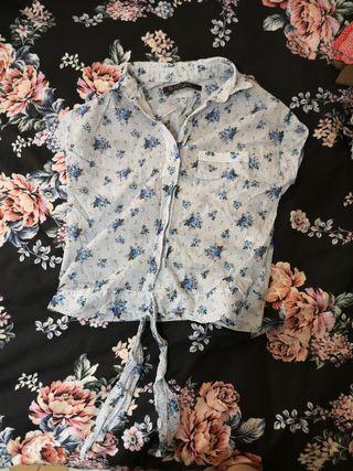 camiseta manga corta estanpado de flores