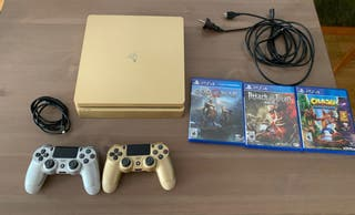 PS4 slim edición limitada dorada 2017