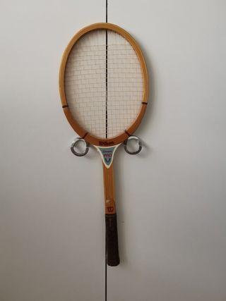 Raqueta tenis de madera Wilson