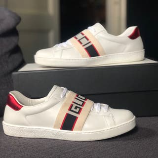 Zapatos Gucci Ace stripe autenticas