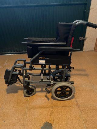 Silla ruedas incapacitados plegable