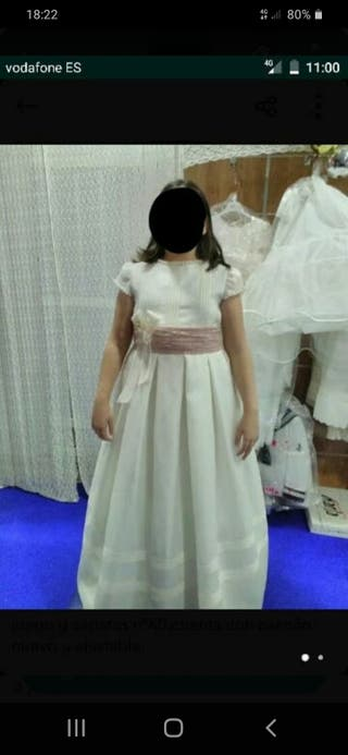 vestido de comunión de niña talla grande