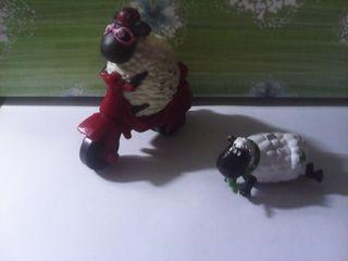 lote 2 figuras la oveja shaun