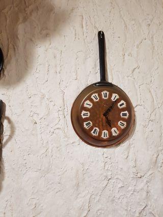Reloj cocina con forma de sartén