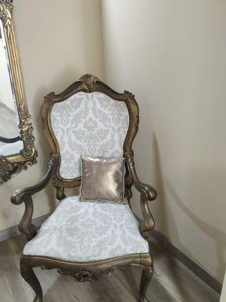 sillón vintage antiguo