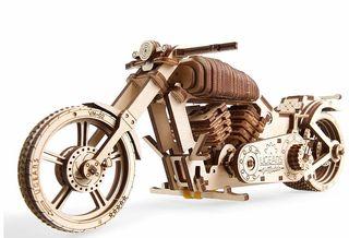 Maqueta de Moto Mecánica - Puzzle 3D Madera