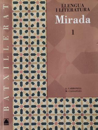 Libro Llengua i Literatura Mirada 1 Batxillerato