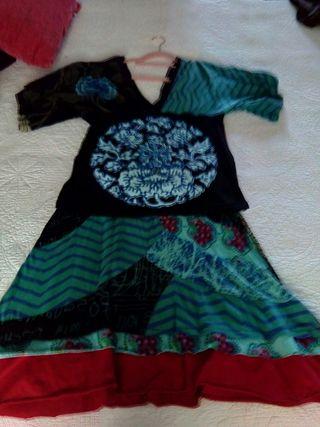 Conjunto Desigual falda y blusa Talla L