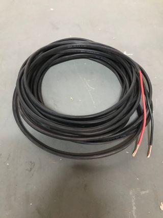 15 metros de manguera de 6 mm rojo y negro