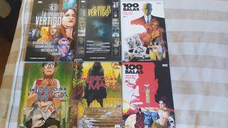 pack de comics Vertigo libros de magia y 100 balas
