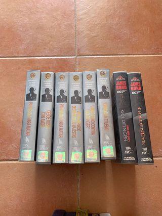 VHS De James Bond 007 antiguos