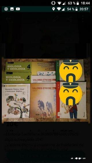 Libros de texto de 4°de la ESO.