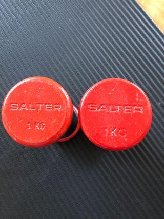 Pesas de hierro Salter
