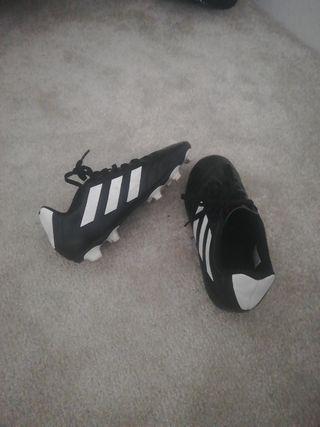 black Adidas football boots