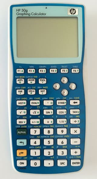 Calculadora gráfica hp 50g color azul