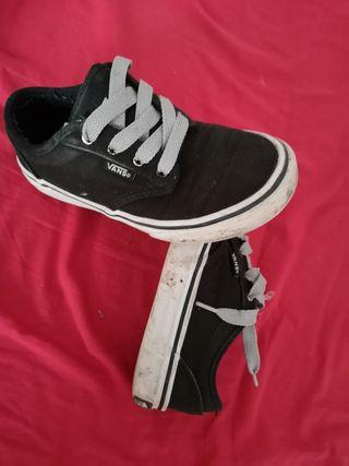 zapatillas vans negra 31