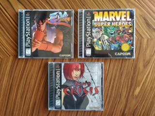 PS1 Street Fighter Dino Crisis Marvel Super heroes