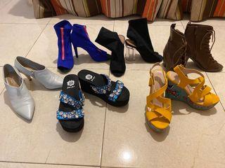 Juego de 6 pares de zapatos