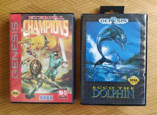 Lote Sega Genesis Ecco y Eternal Champions